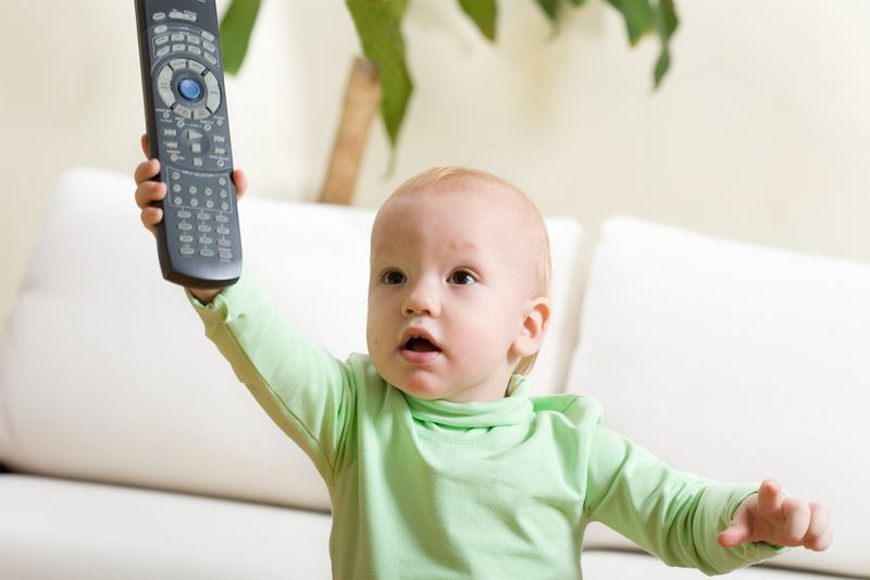 Child with remote
