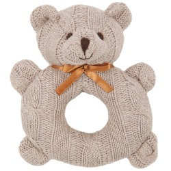 Knitted Bear Rattle