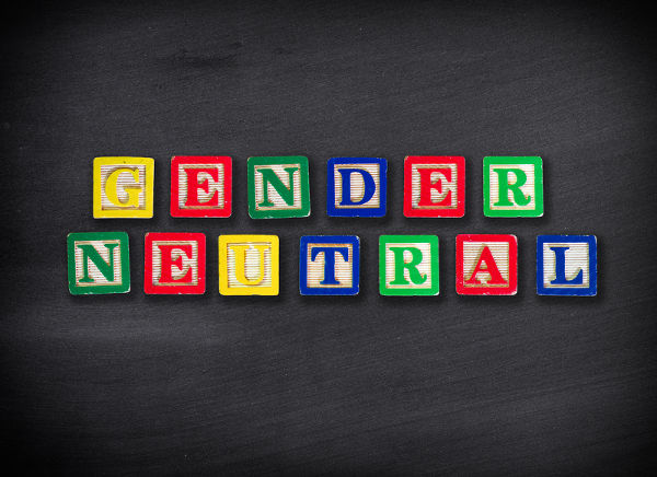 Gender Neutral Block Sign