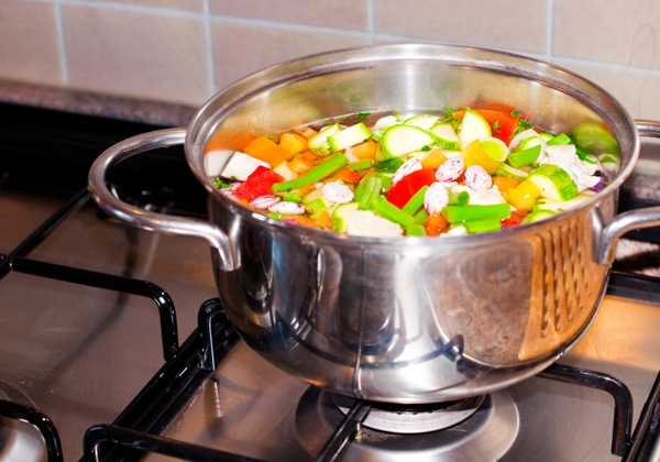 Assorted vegetables cooking