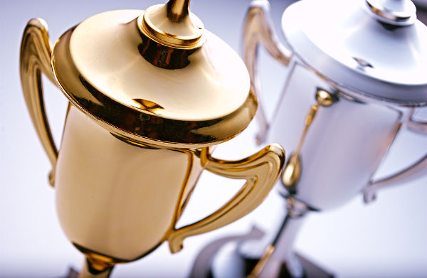 Gold and silver trophies