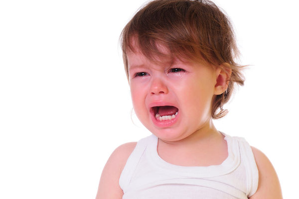 boy crying tears running down face