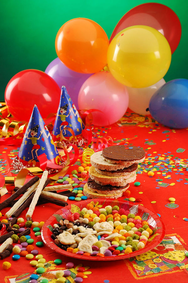 A table with sweets on children party