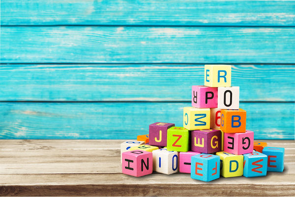 Toy block alphabet letters wooden child spelling