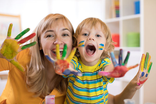 colourful-paints-mother-son-art-project