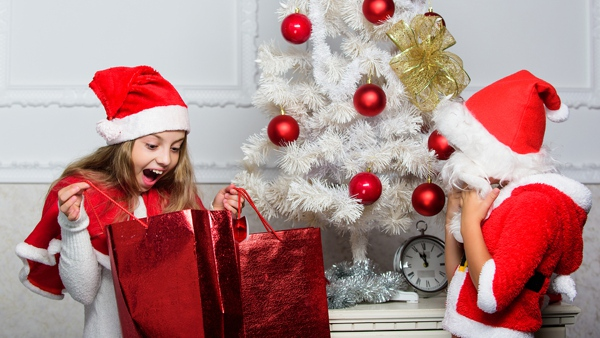 Children excited for presents