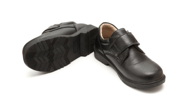 Pair Of Brand New Black Leather Shoe For Children
