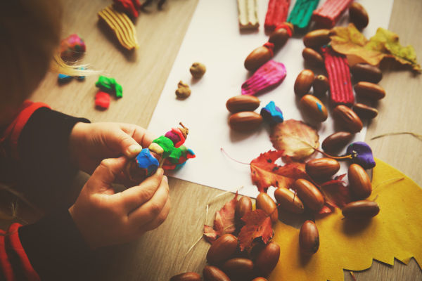 Play dough and autumn crafts