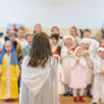 children perform at concert in primary school.