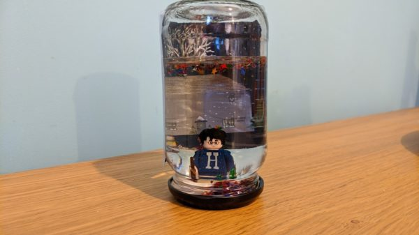 DIY Snow globe made from a jar