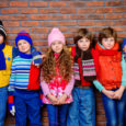 Group of children in winter clothing