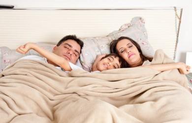 Family waking up