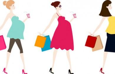 Pregnant Women Shopping