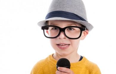 Geeky toddler boy