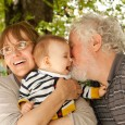 Grandparents having great fun with their grandchild