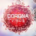 Corona virus. Virus cells or bacteria molecule