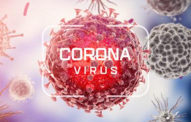 Corona virus. Virus cells or bacteria molecule